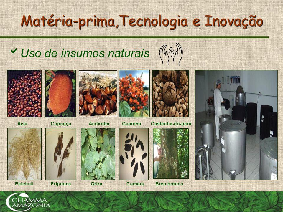 Matéria-prima,Tecnologia e Inovação