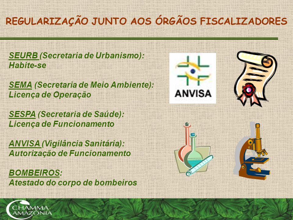 REGULARIZAÇÃO JUNTO AOS ÓRGÃOS FISCALIZADORES