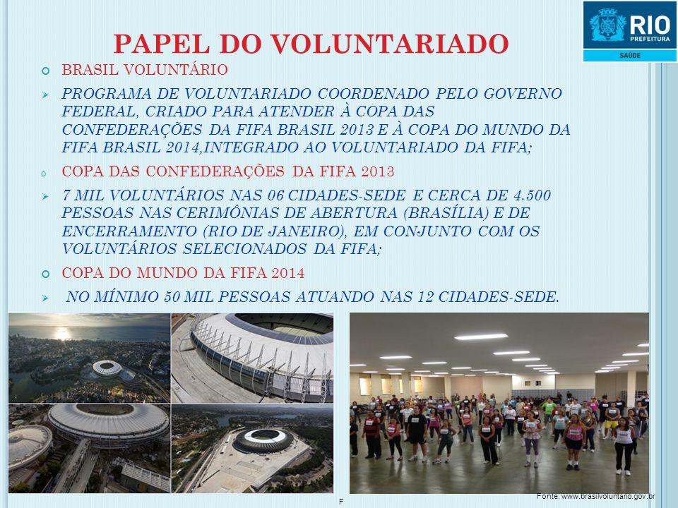 PAPEL DO VOLUNTARIADO BRASIL VOLUNTÁRIO