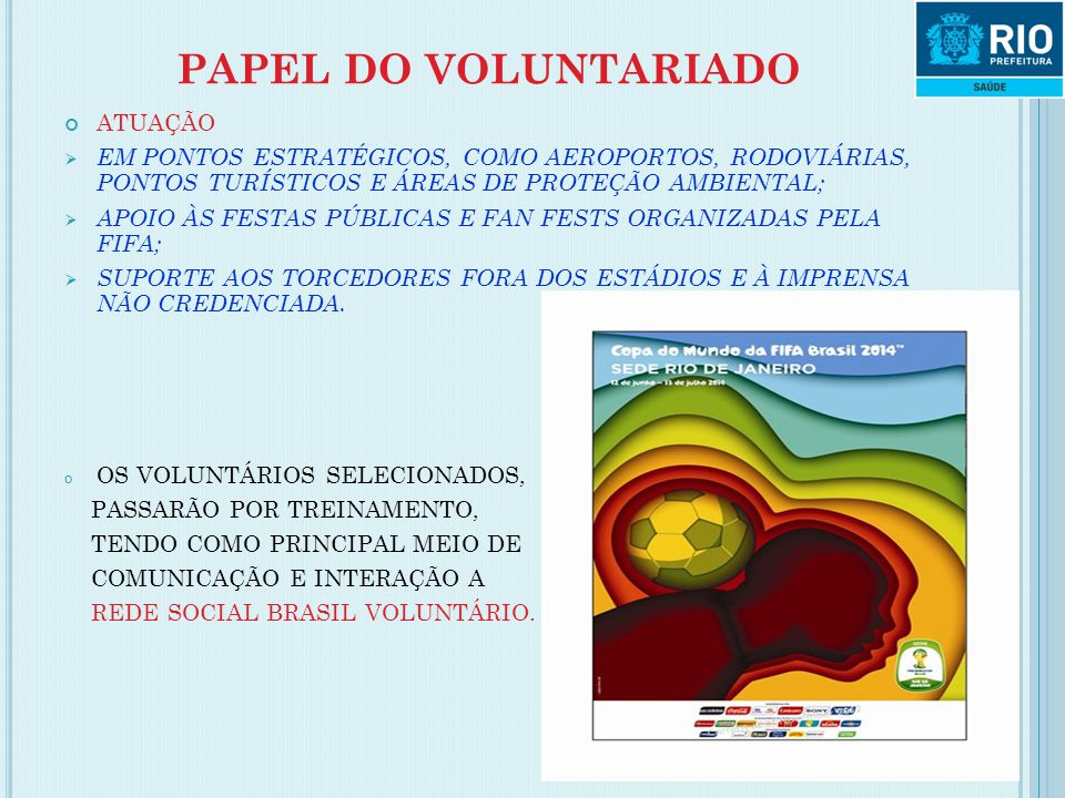 PAPEL DO VOLUNTARIADO ATUAÇÃO