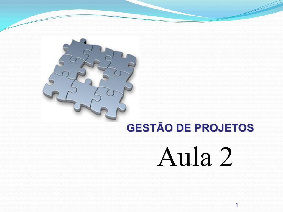 GESTÃO DE PROJETOS Aula 2 1