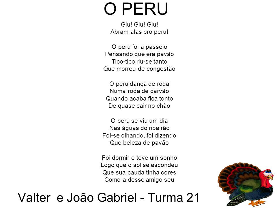 Valter e João Gabriel - Turma 21