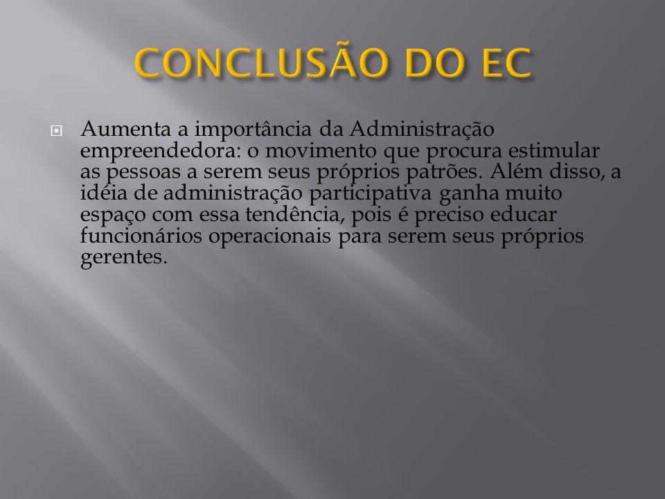 CONCLUSÃO DO EC