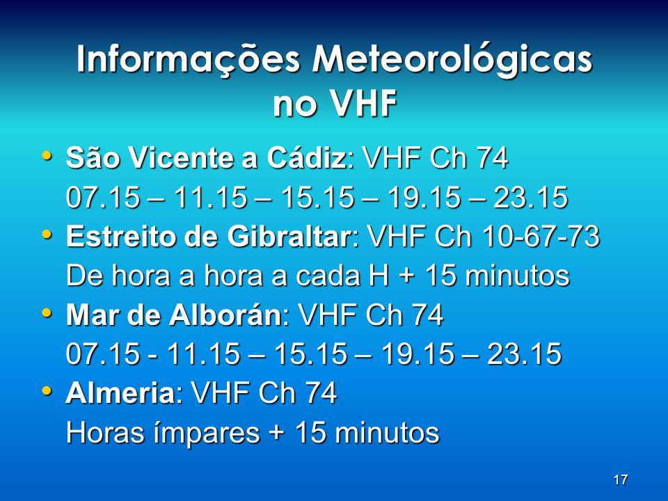 Informações Meteorológicas no VHF