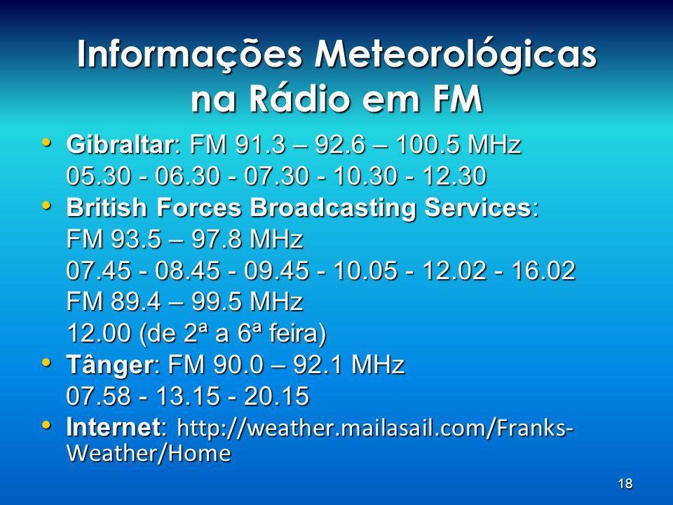 Informações Meteorológicas na Rádio em FM