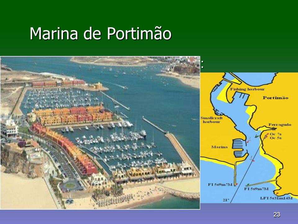Marina de Portimão Rumo para a aproximação: