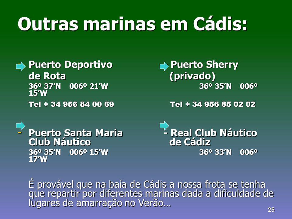Outras marinas em Cádis: