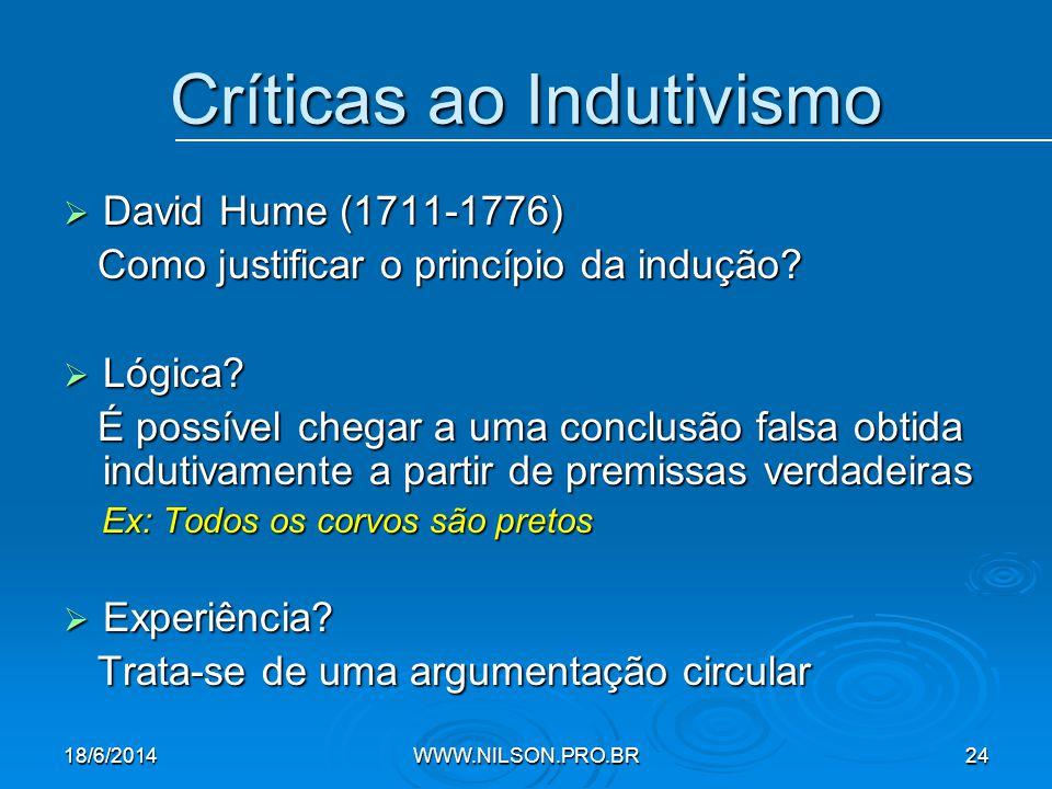 Críticas ao Indutivismo