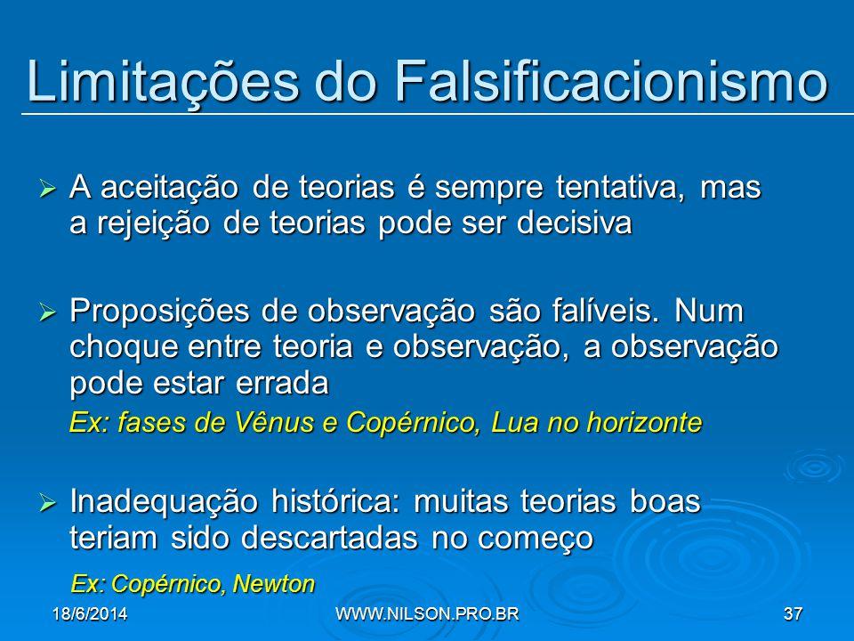 Limitações do Falsificacionismo