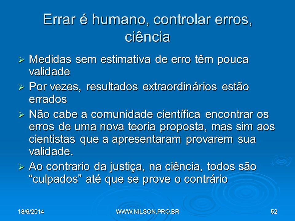 Errar é humano, controlar erros, ciência