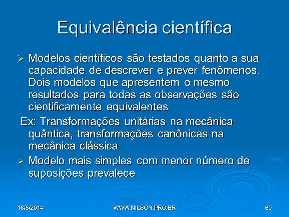 Equivalência científica
