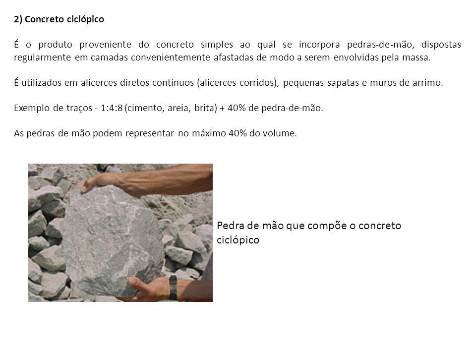 Pedra de mão que compõe o concreto ciclópico