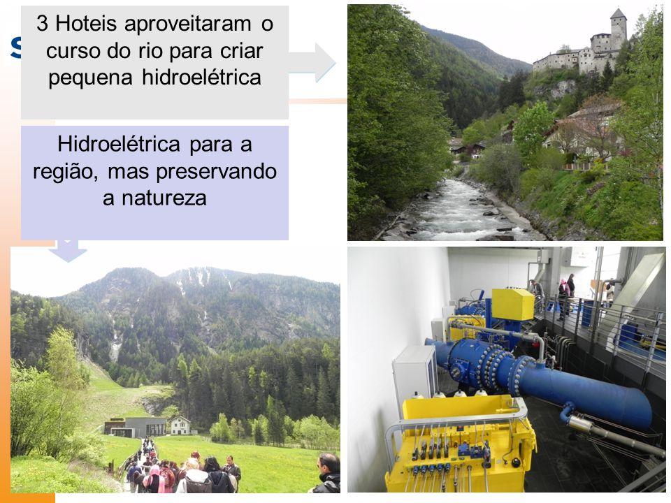 3 Hoteis aproveitaram o curso do rio para criar pequena hidroelétrica