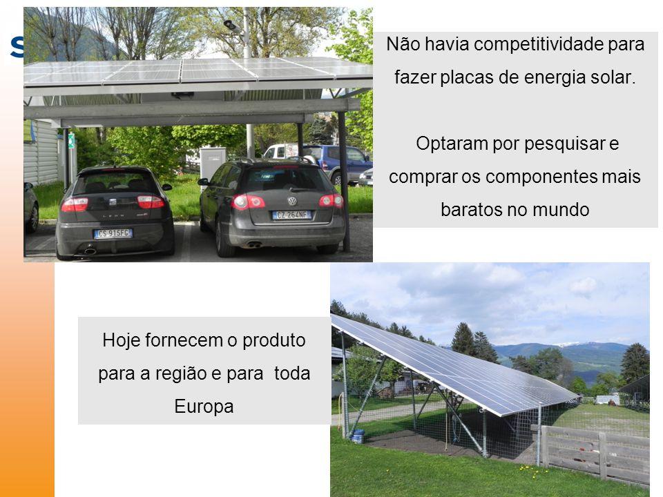 Não havia competitividade para fazer placas de energia solar.