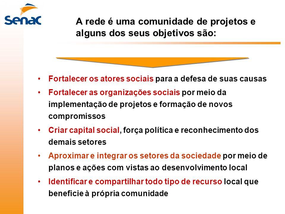 A rede é uma comunidade de projetos e alguns dos seus objetivos são: