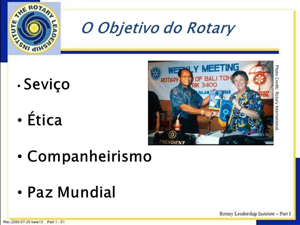O Objetivo do Rotary Seviço Ética Companheirismo Paz Mundial