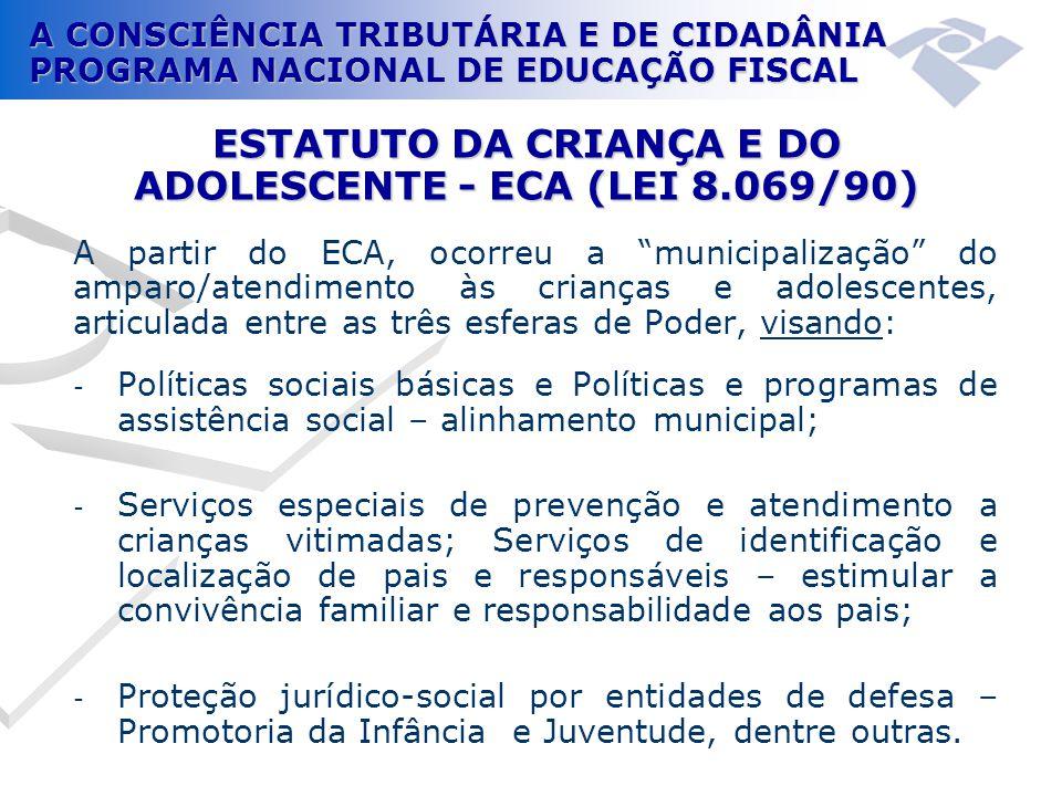 ESTATUTO DA CRIANÇA E DO ADOLESCENTE - ECA (LEI 8.069/90)