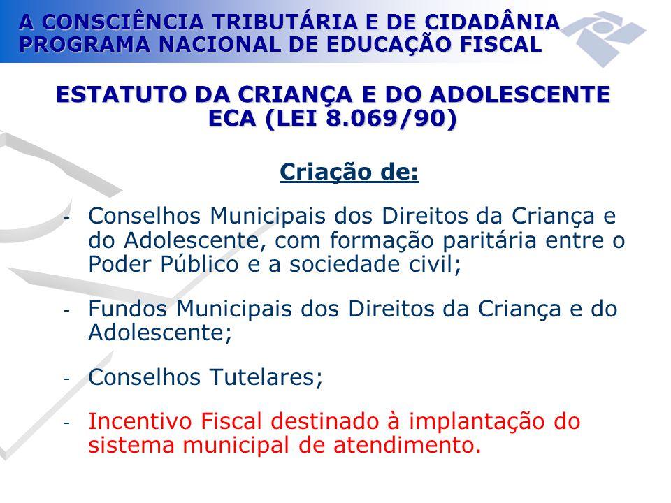 ESTATUTO DA CRIANÇA E DO ADOLESCENTE ECA (LEI 8.069/90)