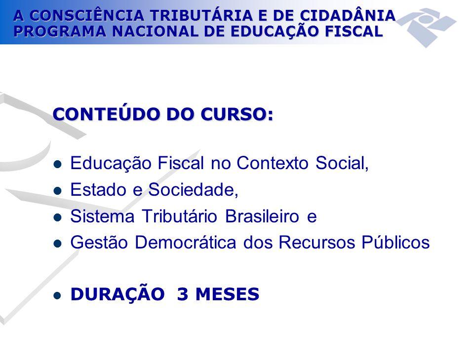Educação Fiscal no Contexto Social, Estado e Sociedade,