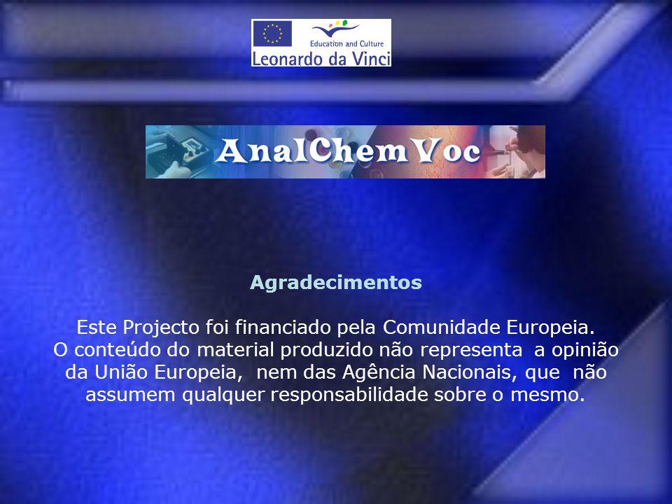 Este Projecto foi financiado pela Comunidade Europeia.