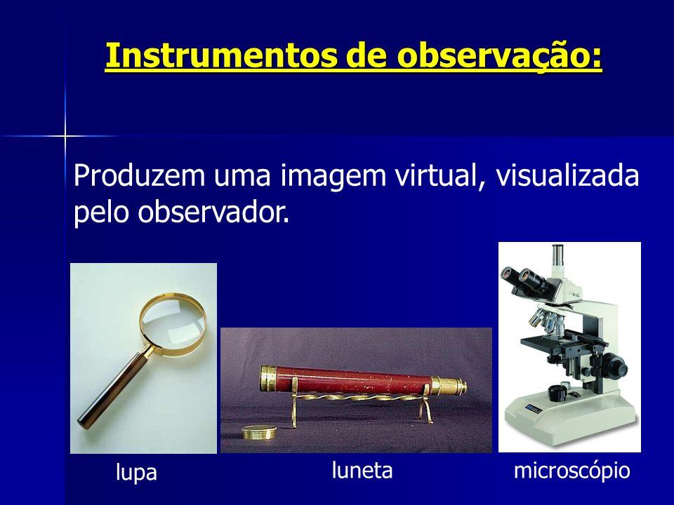 Instrumentos de observação: