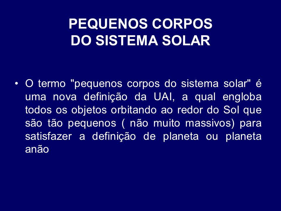 PEQUENOS CORPOS DO SISTEMA SOLAR