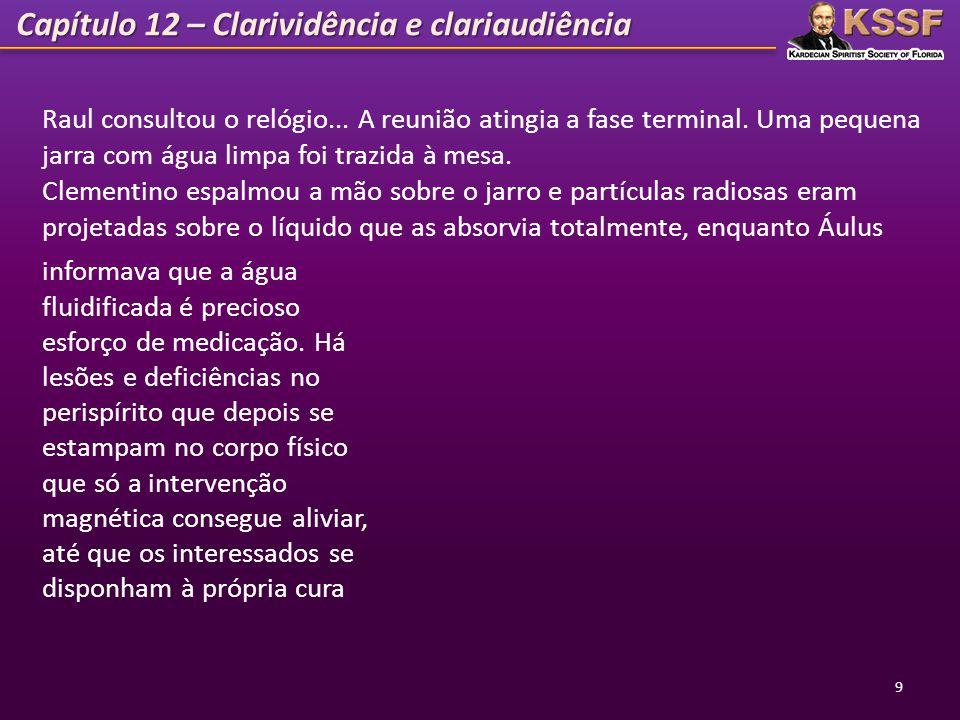 Capítulo 12 – Clarividência e clariaudiência