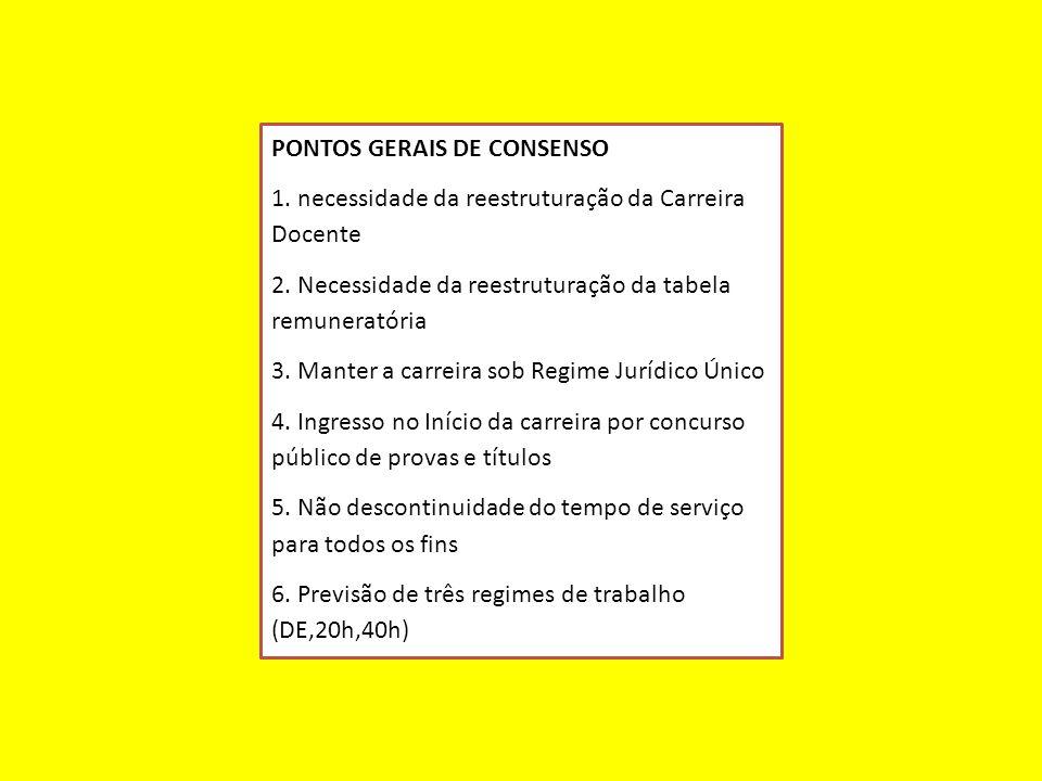 PONTOS GERAIS DE CONSENSO