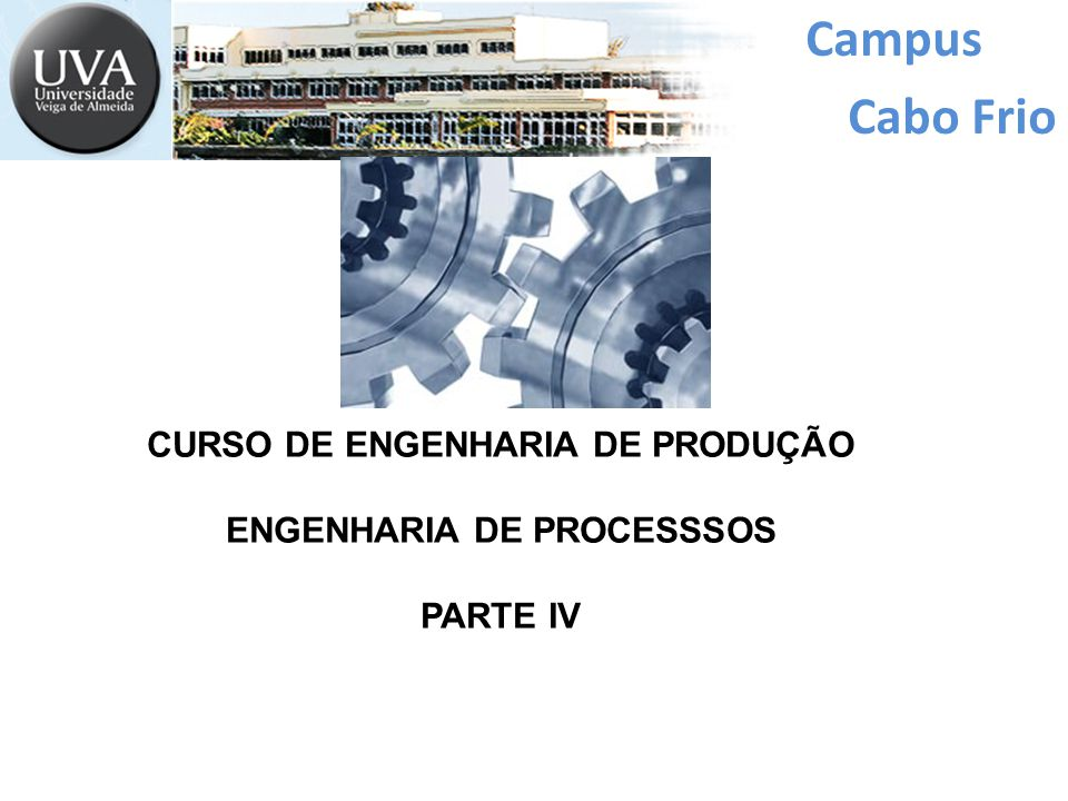 CURSO DE ENGENHARIA DE PRODUÇÃO ENGENHARIA DE PROCESSSOS