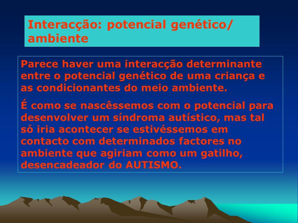 Interacção: potencial genético/ ambiente