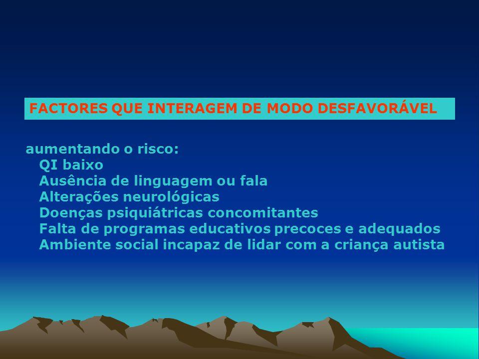 FACTORES QUE INTERAGEM DE MODO DESFAVORÁVEL