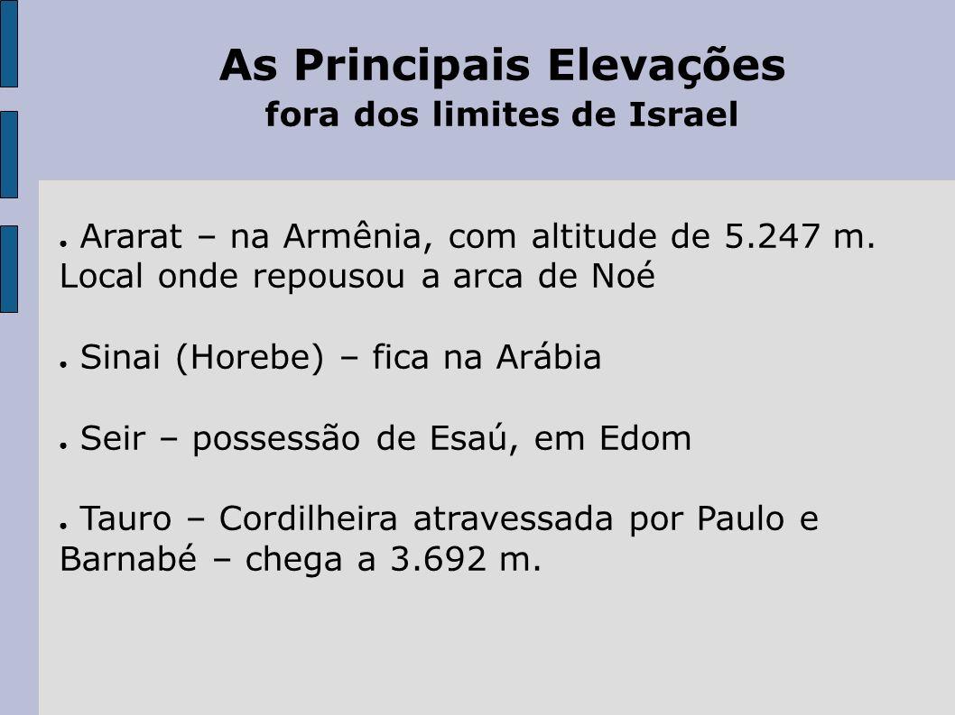 As Principais Elevações fora dos limites de Israel