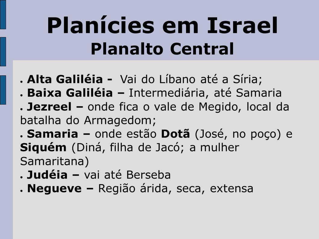 Planícies em Israel Planalto Central