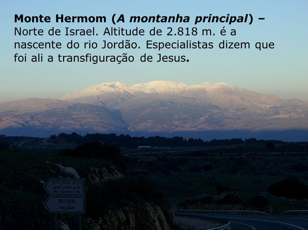 Monte Hermom (A montanha principal) – Norte de Israel. Altitude de 2