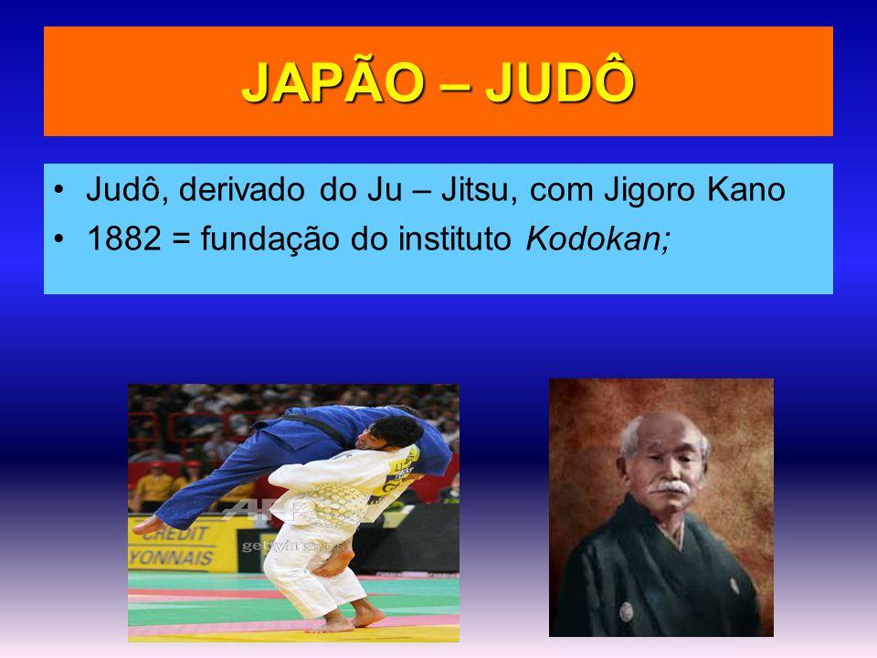 JAPÃO – JUDÔ Judô, derivado do Ju – Jitsu, com Jigoro Kano