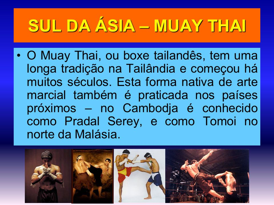 SUL DA ÁSIA – MUAY THAI