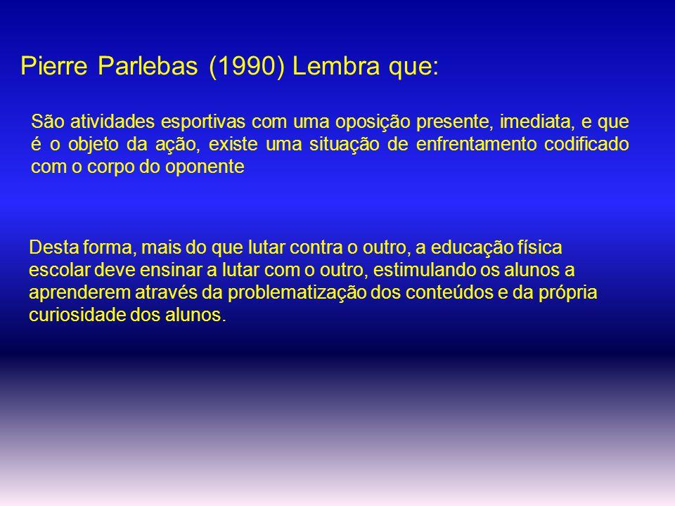 Pierre Parlebas (1990) Lembra que:
