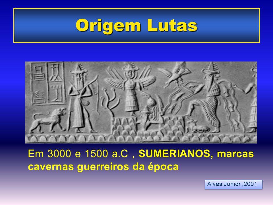 Origem Lutas Em 3000 e 1500 a.C , SUMERIANOS, marcas cavernas guerreiros da época.
