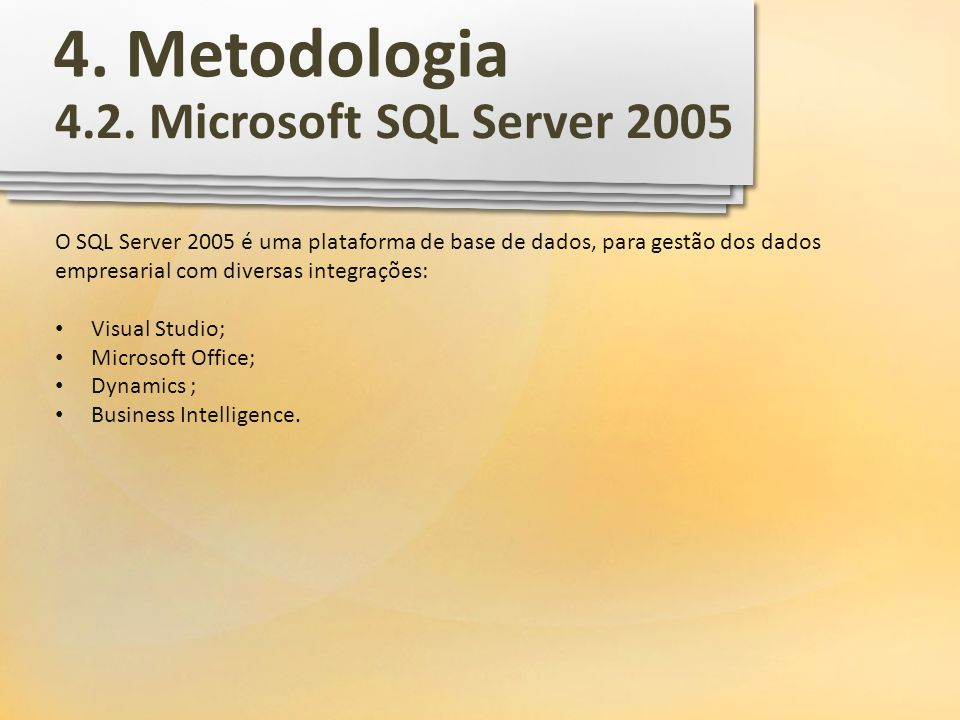 4. Metodologia 4.2. Microsoft SQL Server 2005
