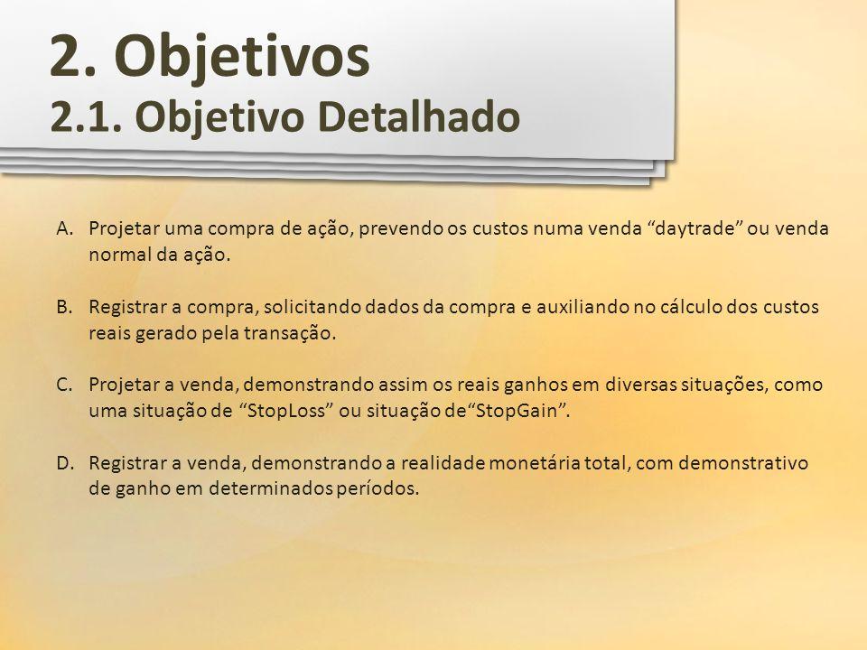 2. Objetivos 2.1. Objetivo Detalhado