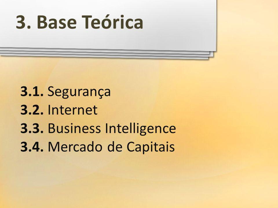 3. Base Teórica 3.1. Segurança 3.2. Internet
