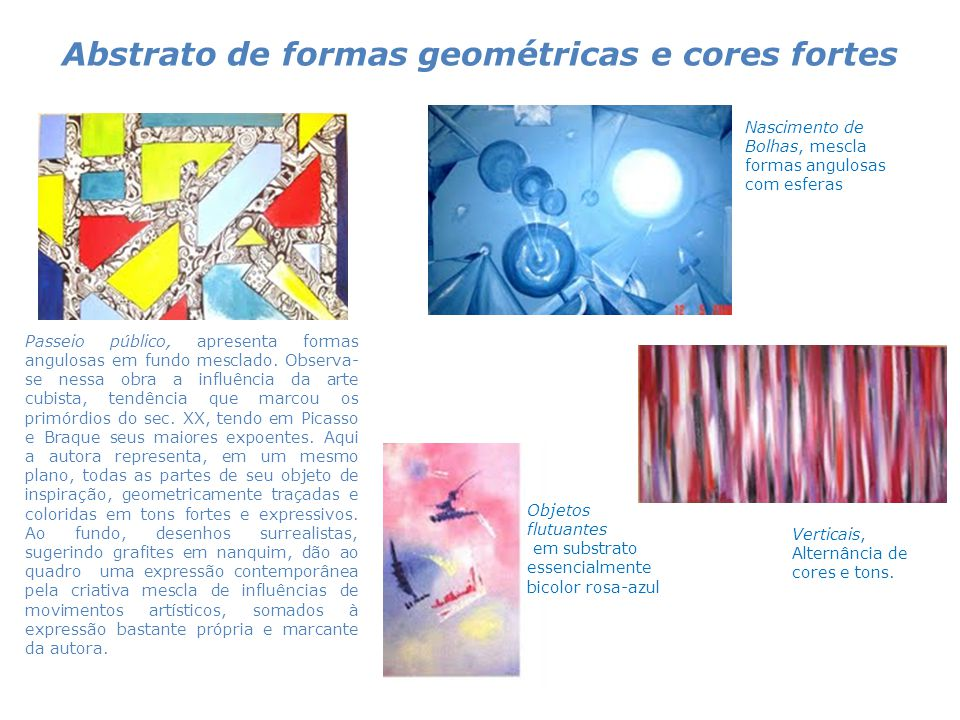 Abstrato de formas geométricas e cores fortes