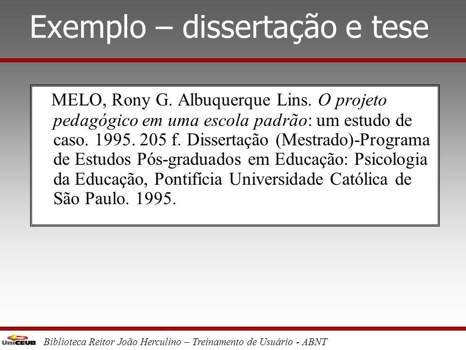 Exemplo – dissertação e tese