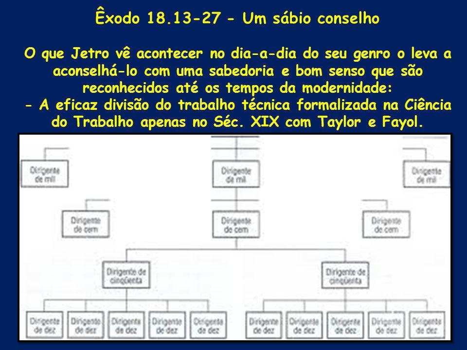 Êxodo 18.13-27 - Um sábio conselho