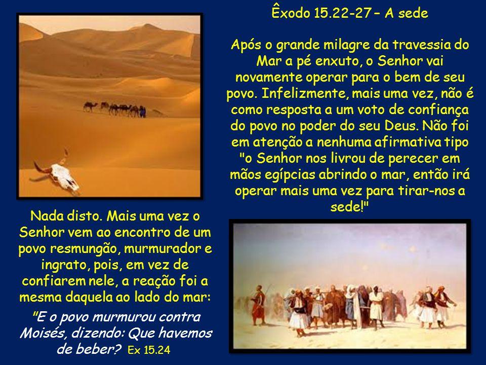 Êxodo 15.22-27 – A sede