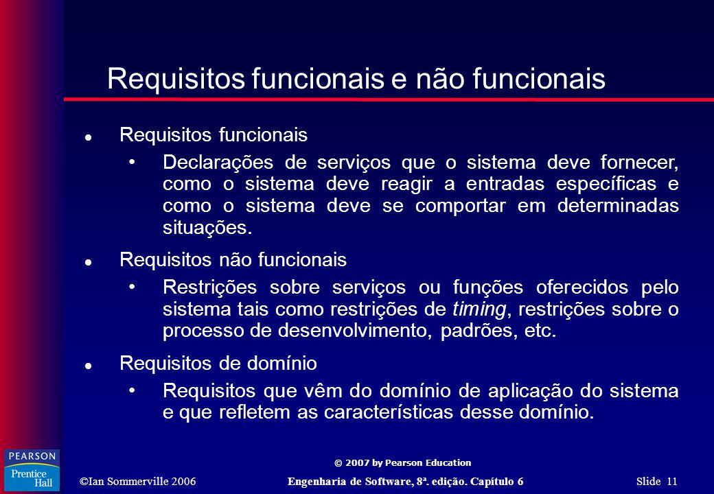 Requisitos funcionais e não funcionais