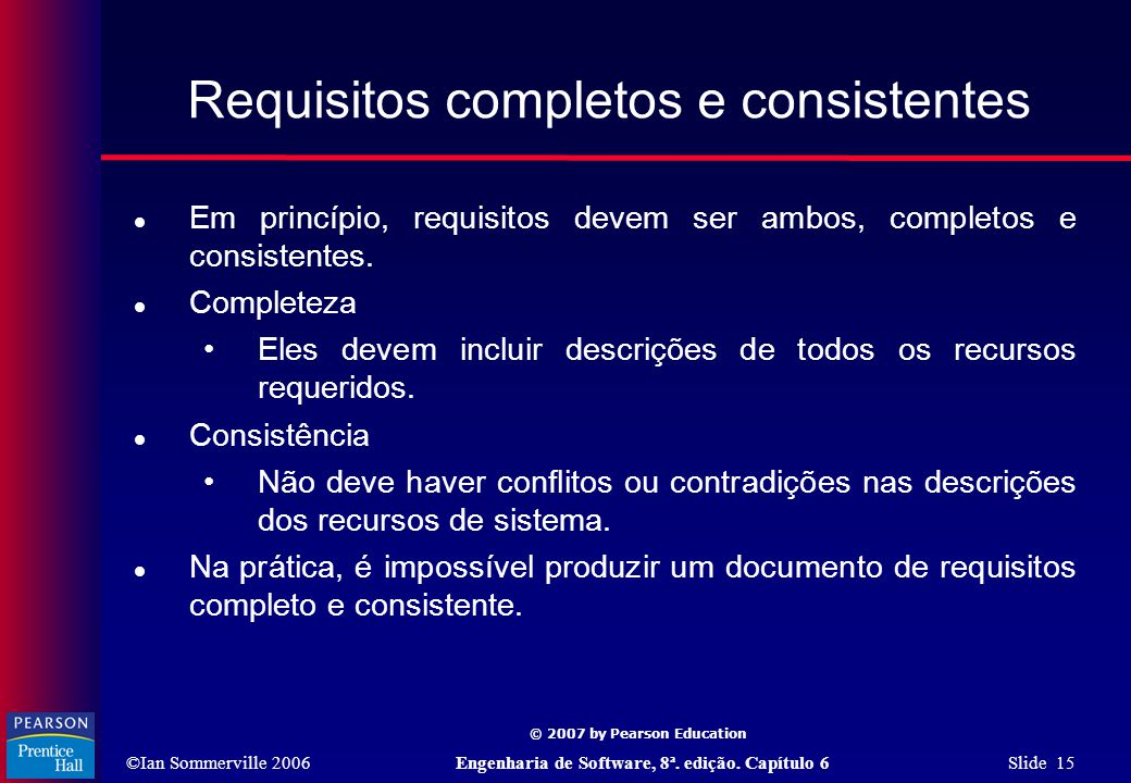 Requisitos completos e consistentes