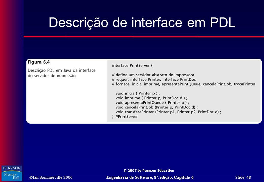Descrição de interface em PDL