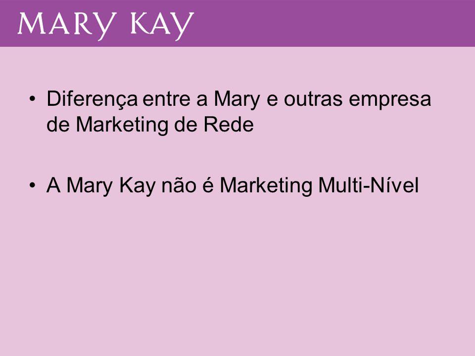 Diferença entre a Mary e outras empresa de Marketing de Rede