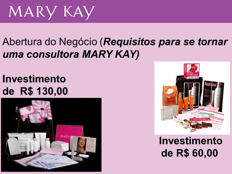 Abertura do Negócio (Requisitos para se tornar uma consultora MARY KAY)